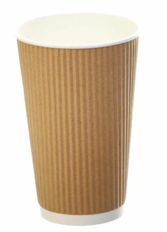 Revive- Ripple Cup – Kraft – 16oz/500ml