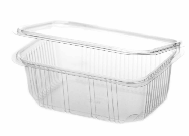Revive rPET Rectangular Hinged Container – 20oz / 600ml