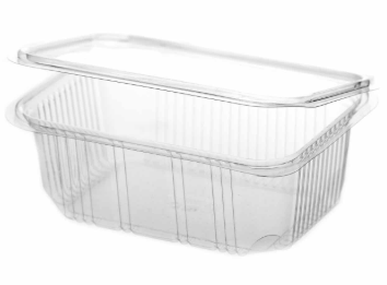Revive rPET Rectangular Hinged Container – 25oz/750ml