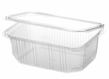 Revive rPET Rectangular Hinged Container – 32oz / 1000ml
