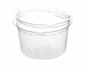 Revive rPET Round Hinged-Lid Deli Pot – 16oz / 500ml