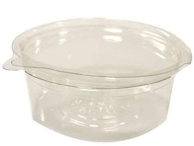 Revive rPET Round Hinged-Lid Deli Pot – 8oz / 240ml