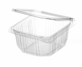 Revive rPET Square Hinged Container – 12.5oz / 370ml