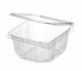 Revive rPET Square Hinged Container – 17oz / 500ml