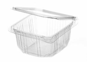 Revive rPET Square Hinged Container – 8oz / 250ml