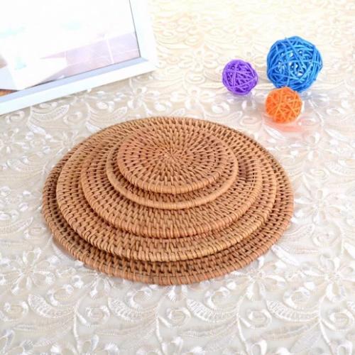 Round Bamboo Tea Coaster