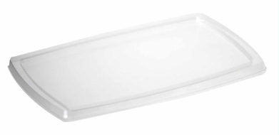rPET Salad Tray Lid – Large – 17oz (244 x 158 x 10mm)