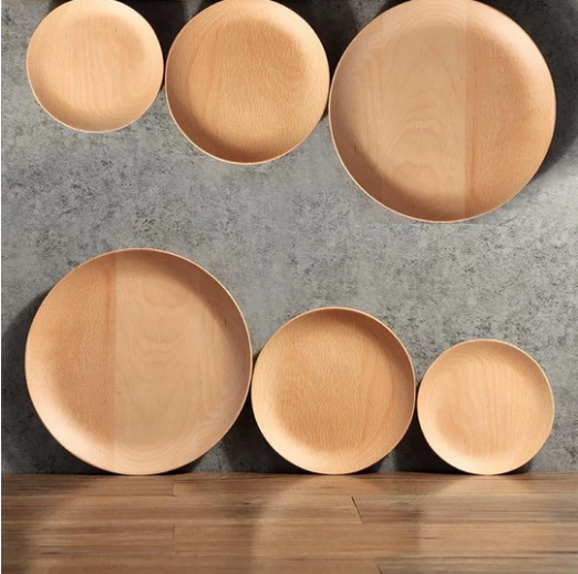Rubberwood Dinner Plate (7 sizes)