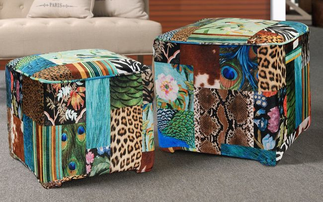 S/2 Bird Ottomans