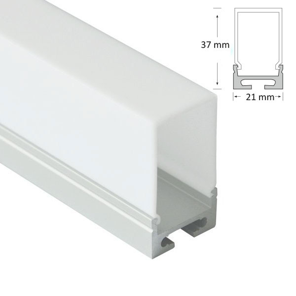 Semi Recessed/Suspended Extrusion with Deep Rectangular Diffuser