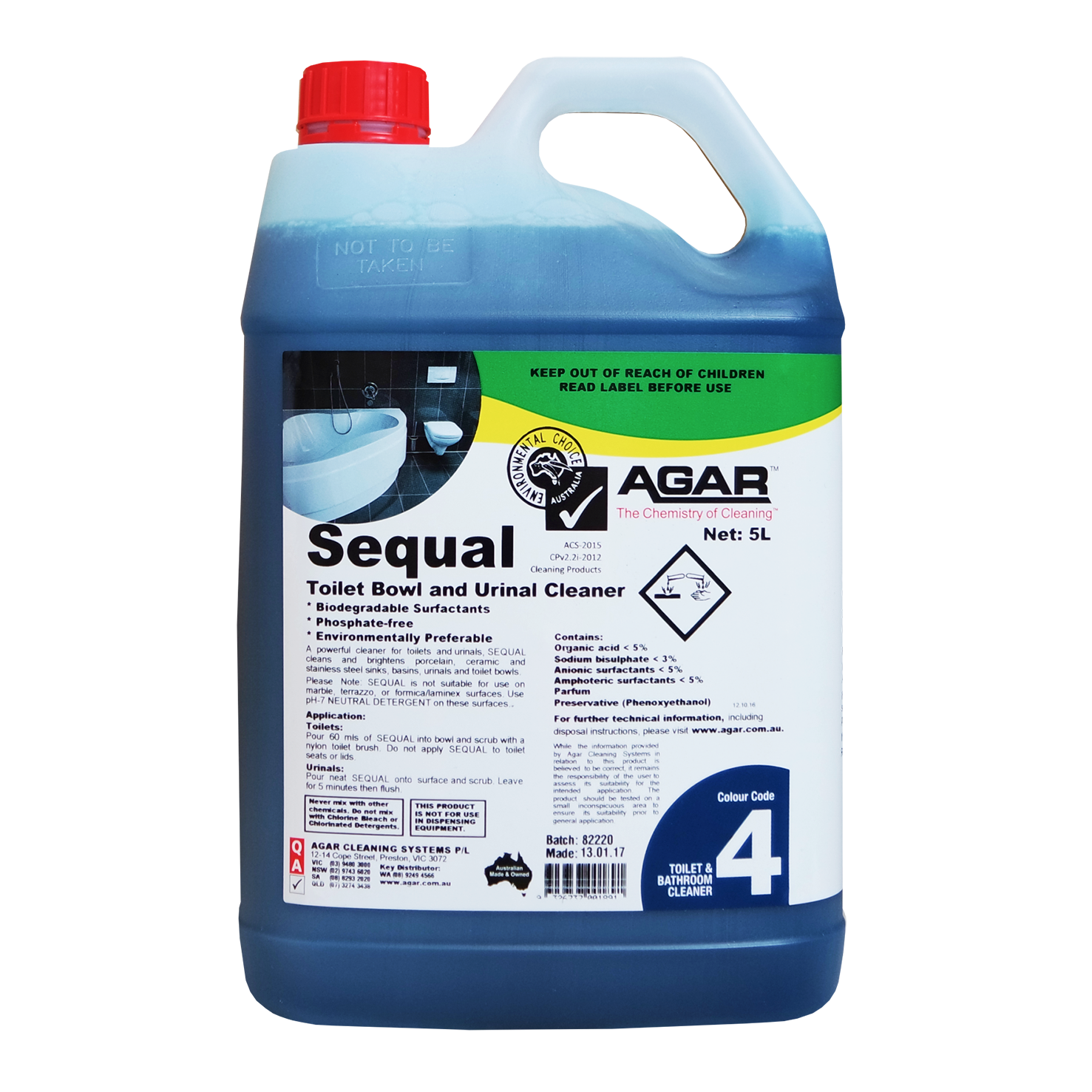 Sequal – Toilet Bowl & Urinal Cleaner