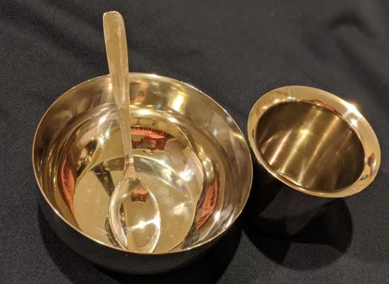 Set of Steel Bowl,Spoon & Tumbler