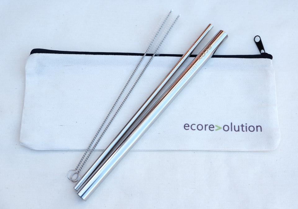 Silver Straw Set