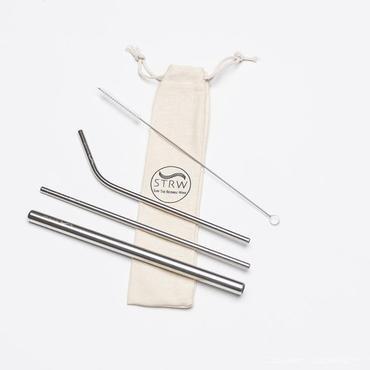Silver Variety Steel Straw Pack