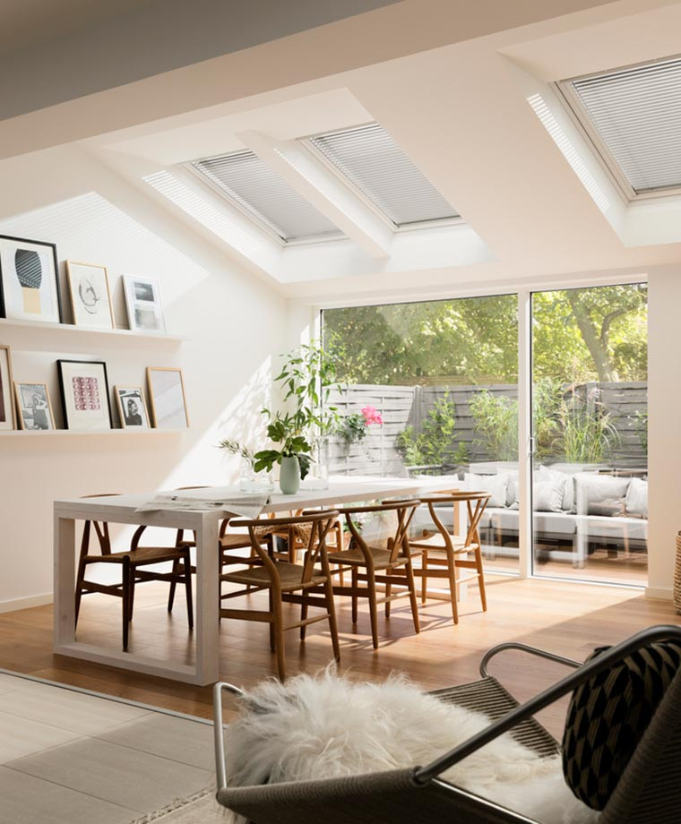 Single roof window bundles for living and dining rooms