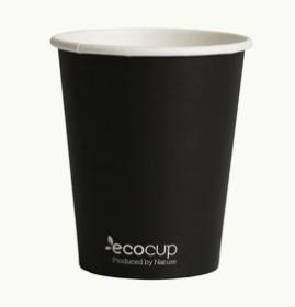 Single Wall EcoCup - BLACK - FSC MIX