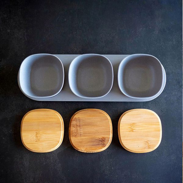 Smoky Snack Bowls with Tray