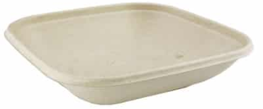 Square Bagasse Bowl – Shallow – 500ml