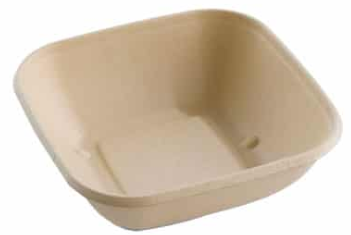 Square Bagasse Bowl – Shallow – 750ml