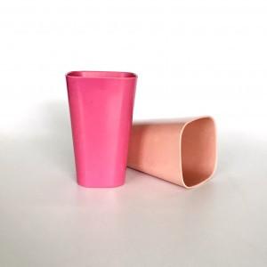 Square Bamboo Fiber Coffee Mug / Cup