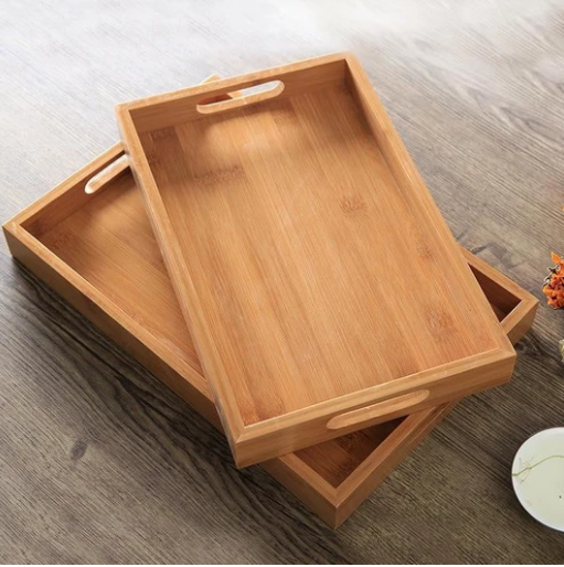 Square Bamboo Tea Tray