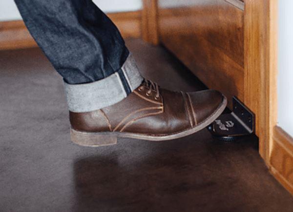 Foot operated door opener