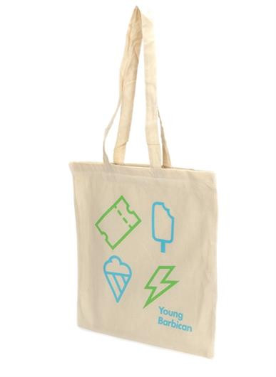 Stock 5oz Natural Cotton Shopper Tote Bag