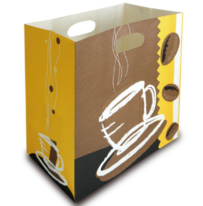 Stock Design Paper Bags With Die-Cut Handle