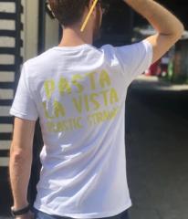 "Stroodles ""Pasta La Vista Plastic Straws"" T-Shirt"