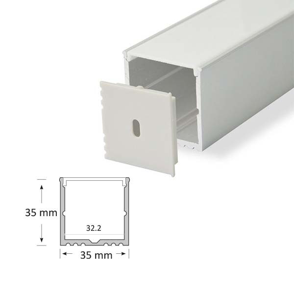 Surface Mounted Rectangular Extrusion