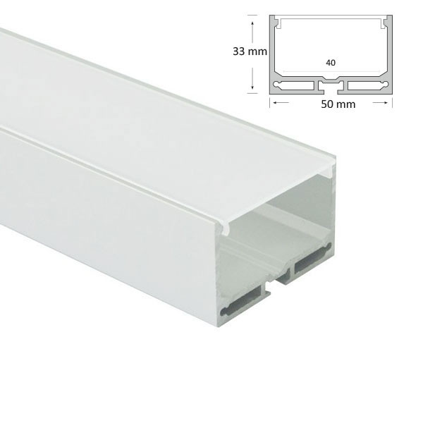 Suspended Short Wide Rectangular Extrusion