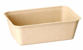 Sustain Bagasse Container – Brown – 21oz / 650ml