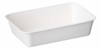 Sustain Bagasse Container – White – 16oz / 500ml