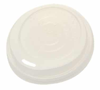 Sustain Compostable Hot Cup Lid – White – 10 – 16oz