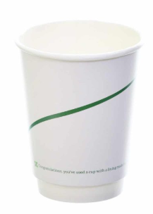 Sustain Double Walled Bio Hot cup – Print – 12oz/360ml
