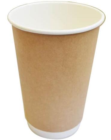Sustain Kraft Double Wall Bio Hot Cup – Plain – 16oz/500ml