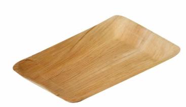 "Sustain Palm Leaf Rectangular Plate – 6.5"" x 10"" (16 x 24cm)"
