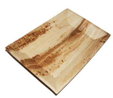 Sustain Palm Leaf Rectangular Plate – Cuadra Design – Medium – 5″ x 7″ (12 x 17cm)