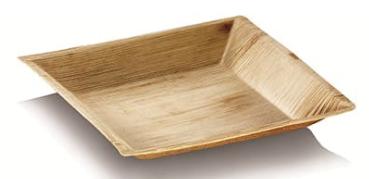 "Sustain Palm Leaf Square Plate – Cuadra Design – 7.5"" (18 x 18cm)"