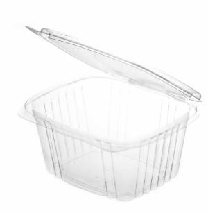 Sustain PLA Rectangular Hinged Container – 16oz / 450ml