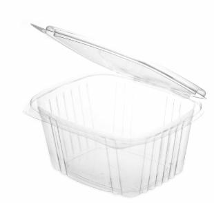 Sustain PLA Rectangular Hinged Container – 24oz / 700ml
