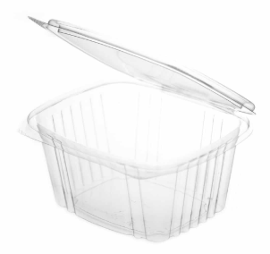 Sustain PLA Rectangular Hinged Container – 32oz / 1000ml