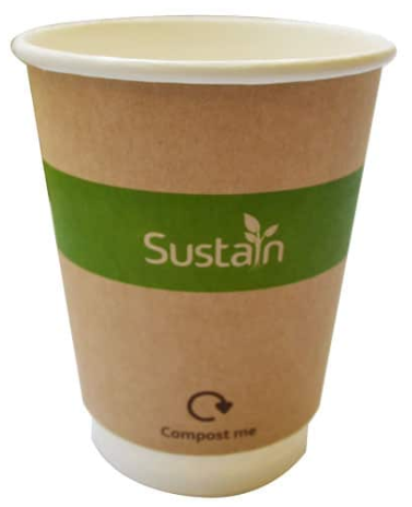 Sustain Printed Kraft Double Wall Hot Cup – 12oz/360ml