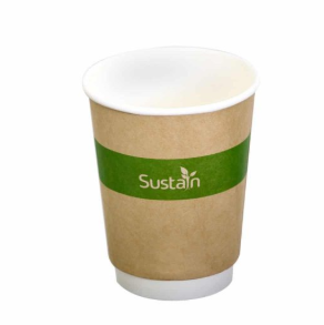 Sustain Printed Kraft Double Wall Hot Cup – 8oz/240ml