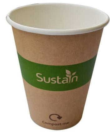 Sustain Printed Kraft Single Wall Hot Cup – 12oz/360ml