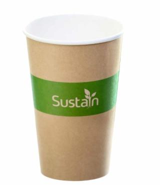 Sustain Printed Kraft Single Wall Hot Cup – 16oz/500ml