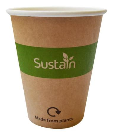 Sustain Printed Kraft Single Wall Hot Cup – 8oz/240ml