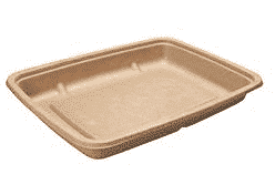 Sustain Rectangular Bagasse Tray Salad Container – 590ml (20oz)