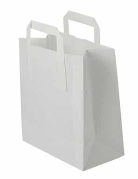 Sustain Recycled Large Paper Carrier Bag – White – 260 x 135 x 305mm