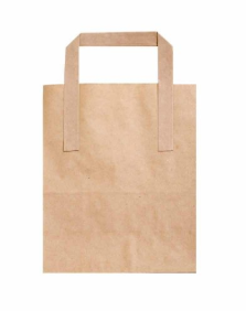 Sustain Recycled Small Paper Carrier Bag – Brown – 175 x 95 x 215mm